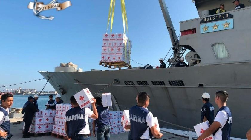 Envía México toneladas de ayuda a Bahamas(Twitter/ SEMAR_mx)