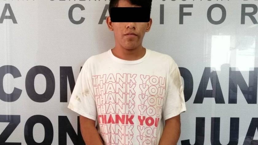 Un joven de 18 años fue capturado mediante una orden de aprehensión por el delito de homicidio calificado con ventaja y robo con violencia.(Cortesía)