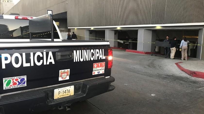Un hombre fue asesinado en el estacionamiento del Grand Hotel alrededor de las 18:00 horas.(Daniel Andrade)