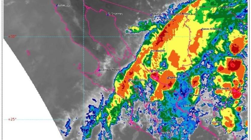 Prevén lluvias puntuales en Sonora para las próximas horas(Cortesía)