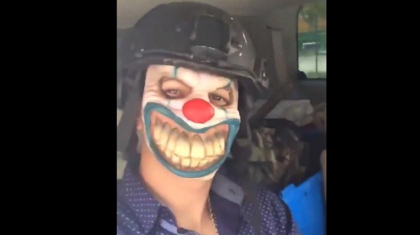 El video de los 'narcopayasos' ha circulado en redes sociales.