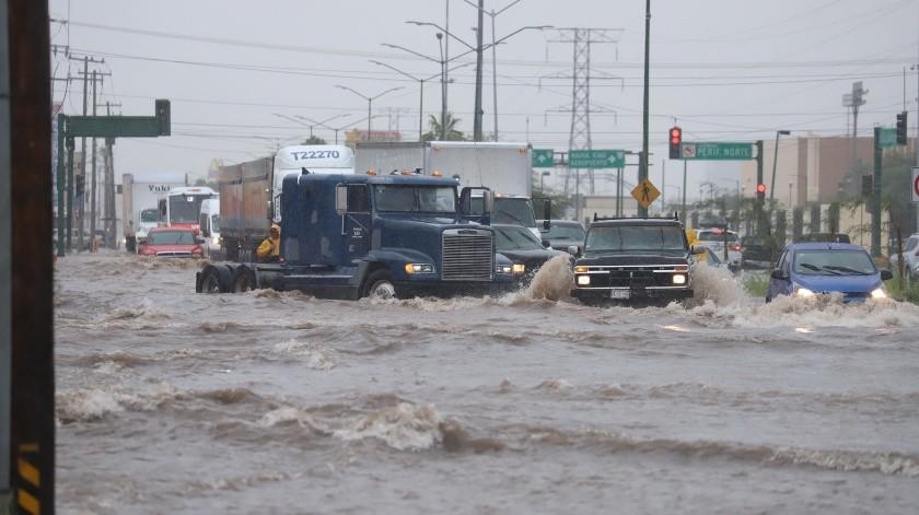Los municipios de Caborca e Ímuris registraron mayores acumulaciones de agua, con 63 y 54.4 milímetros, respectivamente.