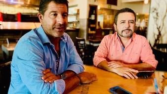 Chef Miguel Ángel Guerrero y sommelier Marco Antonio Amador en entrevista.