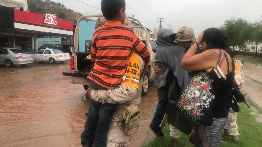 Activan Plan DNIII por lluvias en Nogales