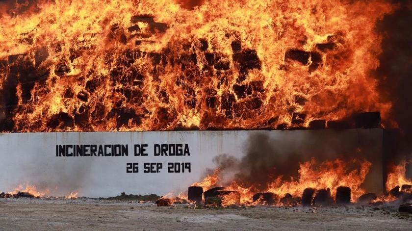 La incineración se realizó en el 28 Batallón de Infantería.(Sergio Ortiz)