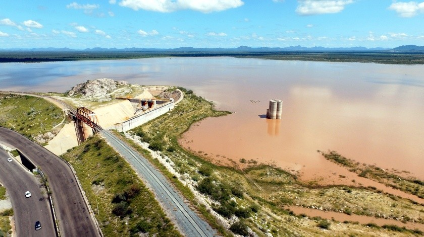 Presa Abelardo L. Rodríguez registra más de 7 millones de m3 de agua tras lluvias(Julián Ortega)