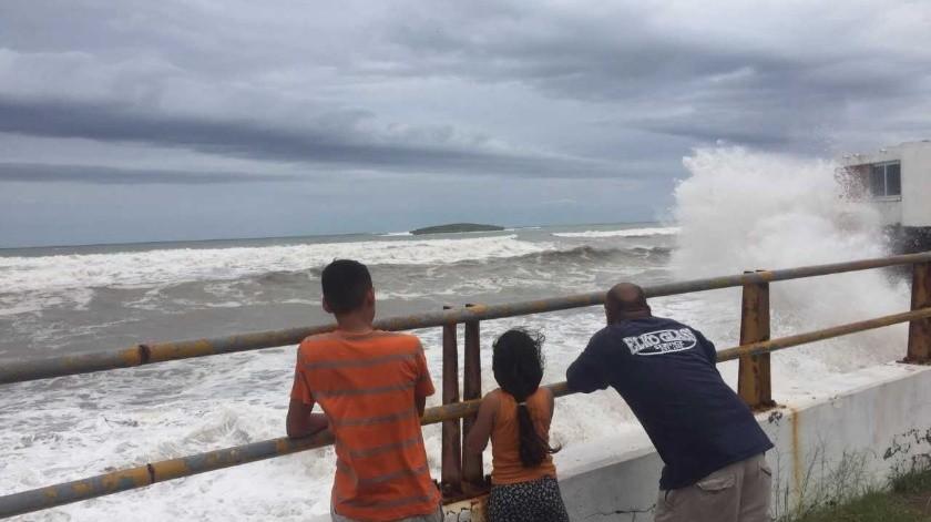 Ciclón tropical podría impactar en Guaymas.(Yesicka Ojeda)
