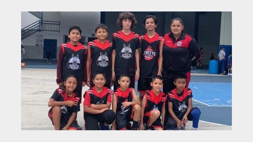 La Academia Zonkeys conquistó la victoria en la segunda jornada de la edición XXVIII de la Liga de Baloncesto San Marcelino Champagnat que se realiza en las instalaciones del Instituto México.(Cortesía)