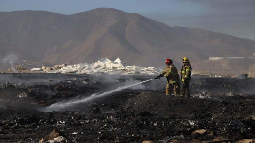El siniestro fue combatido por elementos de bomberos.(Sergio Ortiz)
