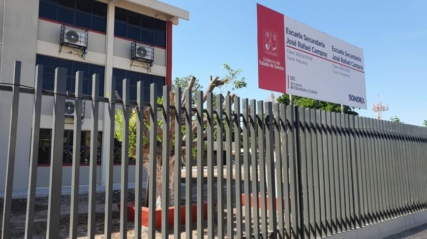 Denuncian poda irresponsable de árboles en secundaria de Obregón(Mayra Echeverría)