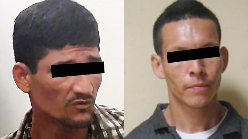"""De izquierda a derecha, Juan Carlos """"N"""" y Ricardo Alfonso """"N"""".(ESPECIAL)"""
