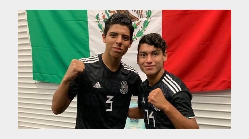 Hay tres cosas que unen a Víctor Andrés Guzmán y Abraham Flores: Tienen 17 años, juegan en fuerzas básicas Xolos y van a un mundial juvenil con la selección mexicana.(Cortesía)