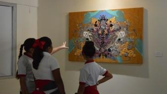 Los alumnos fueron acompañados de los promotores culturales encargados de la visita guiada brindan una explicación general del lugar.