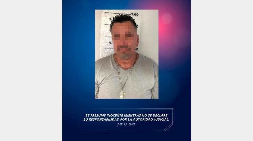 Un norteamericano que contaba con orden de aprehensión por el delito de violación a su libertad condicional, fue detenido por elementos de la Coordinación de Enlace Internacional de la Policía Estatal Preventiva (PEP) e Instituto Nacional de Migración (INM) en Ensenada.(Cortesía)