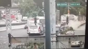 Captan momento de accidente en autopista México-Toluca; hay 10 heridos