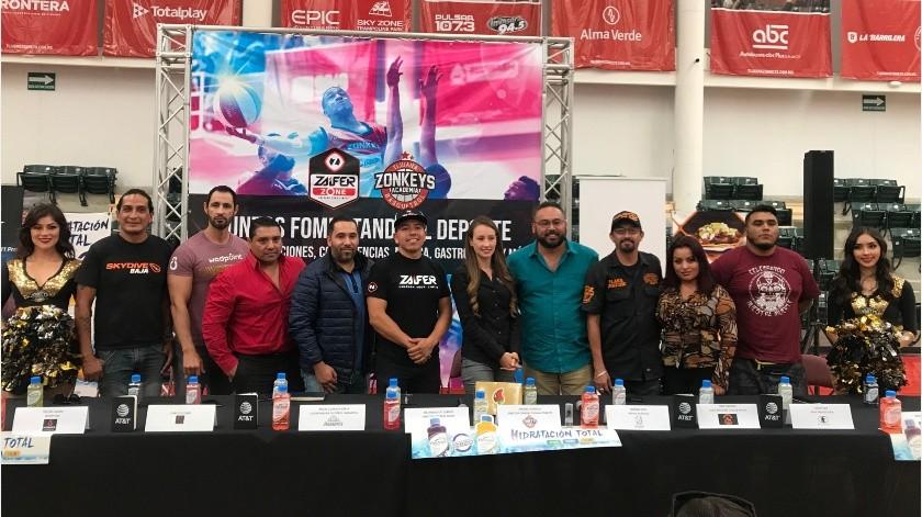 Zonkeys de Tijuana y Zaifer se unen para fomentar el deporte en un evento donde se conjuntarán varias disciplinas.(Johanna Mejía)