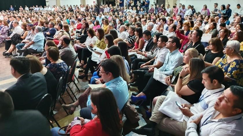 Con la presencia de investigadores de México y del extranjero, así como actores de Seguridad Pública ayer arrancó el Congreso de Mediación en el Centro de las Artes de la Unison.(Julián Ortega)