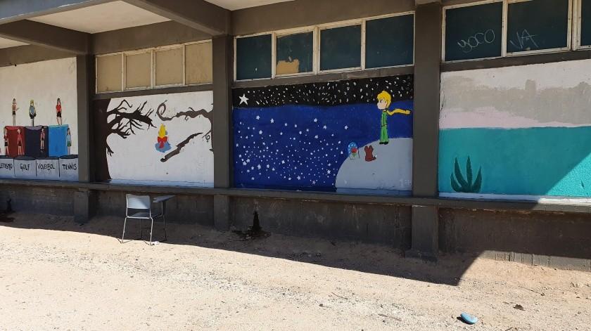 """Estos son los murales que pintó el equipo de """"Somos el cambio"""".(Mirna Lucia Robles)"""