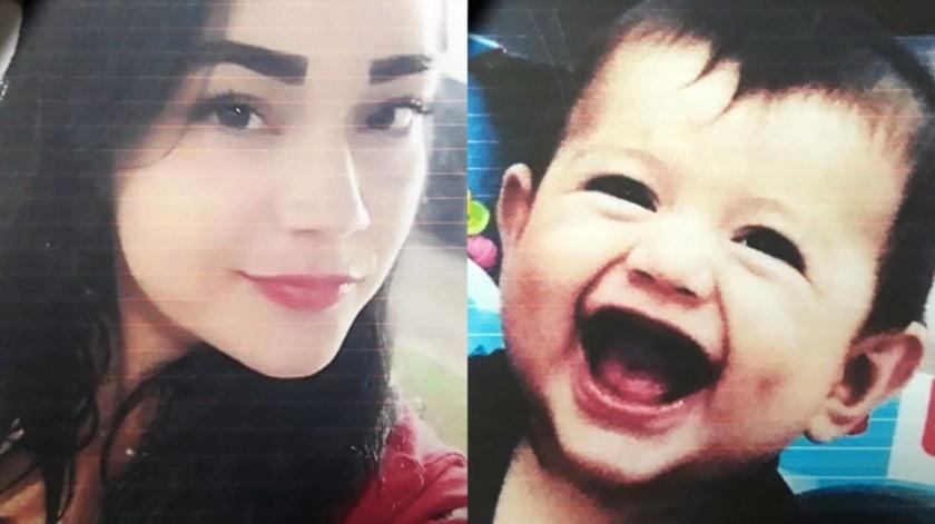 Sonia Arely Terrones Flores de 29 años de edad y  Álvaro Mateo Gutiérrez Terrones de 8 meses sonlos desaparecidos.(Cortesía)