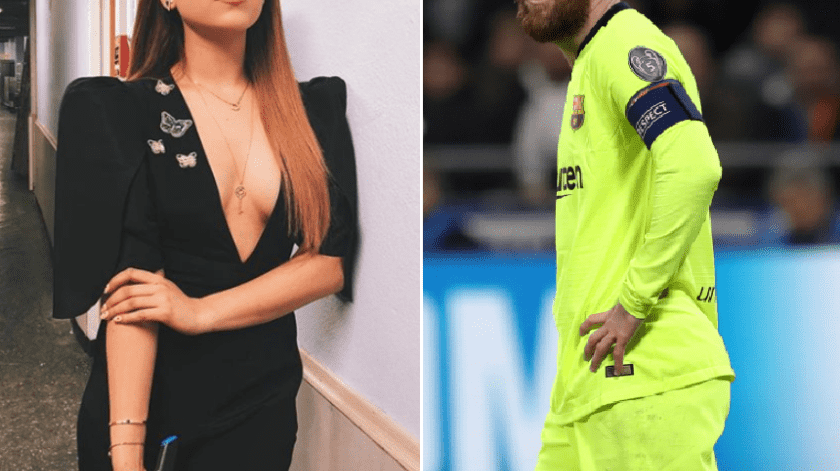 ¡De élite! Danna Paola posa con Messi para su papá(GH)
