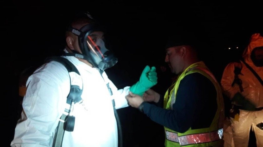 Dos lesionados deja derrame de ácido sulfúrico