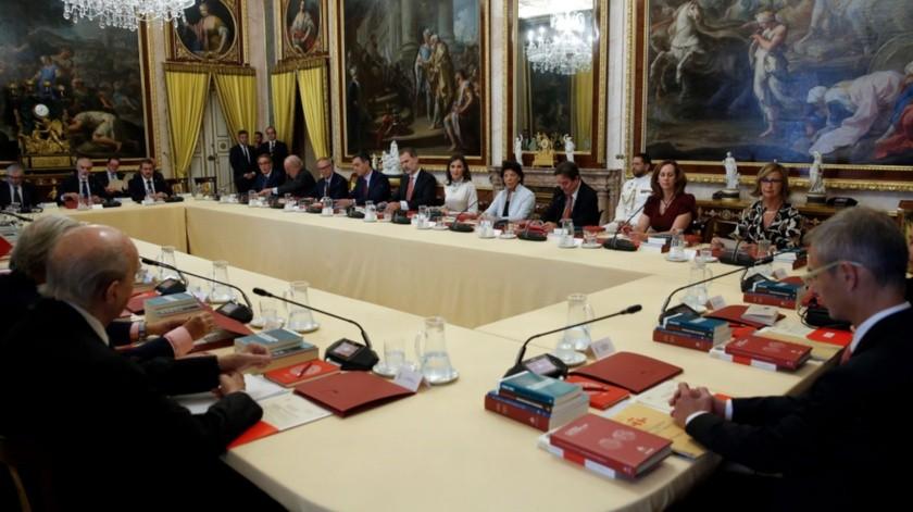 Reunión anual del patronato del Instituto Cervantes presidida por los reyes Felipe y Letizia en el Palacio de Aranjuez..