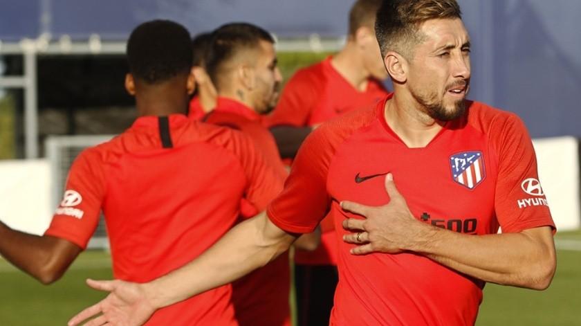 Simeone explicó el motivo de la inactividad de Herrera.(Facebook Atlético  de Madrid)