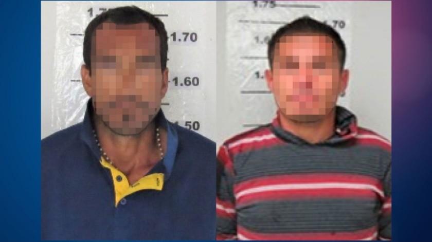 """Los detenidos son Jesús Enrique """"N"""", de 34 años y José de Jesús """"N"""", de 40 años de edad.(Cortesía)"""