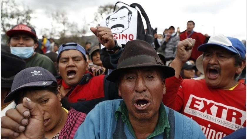 Se trata de la primera vez que el presidente ecuatoriano ofrece a los indígenas hablar del decreto en sí, ya que hasta ahora solía ofrecer el diálogo pero sin mostrar disposición a revertir la medida.(EFE)