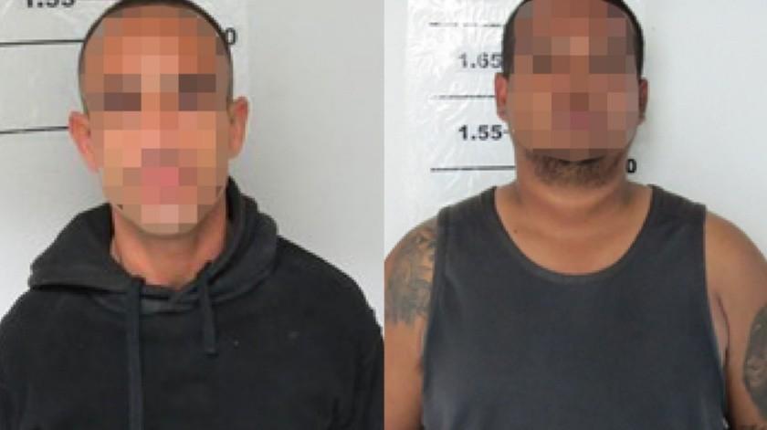 """Los detenidos son Daniel Antonio """"N"""", de 21 años y Rubén """"N"""", de 39 años de edad.(Cortesía)"""