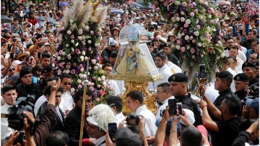 La festividad, conocida como Romería de Zapopan, es una de las peregrinaciones más grandes de Latinoamérica.(EFE)