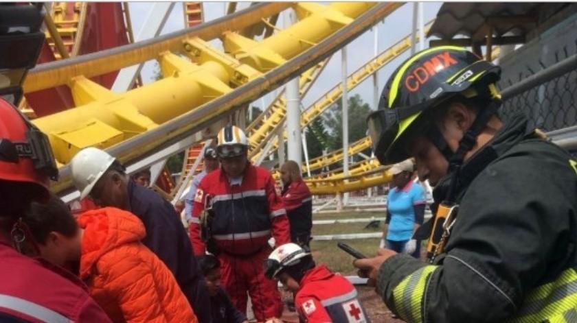 El pasado 28 de septiembre dos personas murieron en un accidente en la montaña rusa Quimera en la Feria de Chapultepec.(Archivo.)