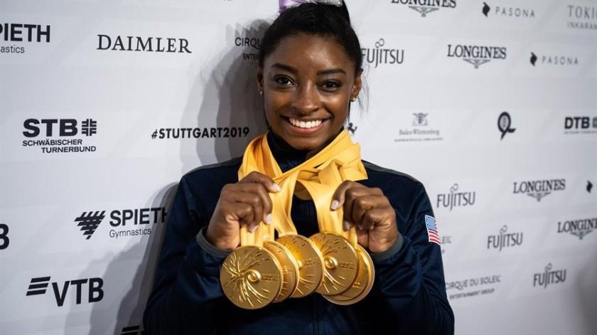 Simones Biles, gimnasta estadounidense.