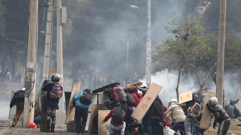 Las protestas, lideradas por la Confederación de Nacionalidades Indígenas del Ecuador (Conaie), han conducido a bloqueos en vías de comunicación.(EFE)