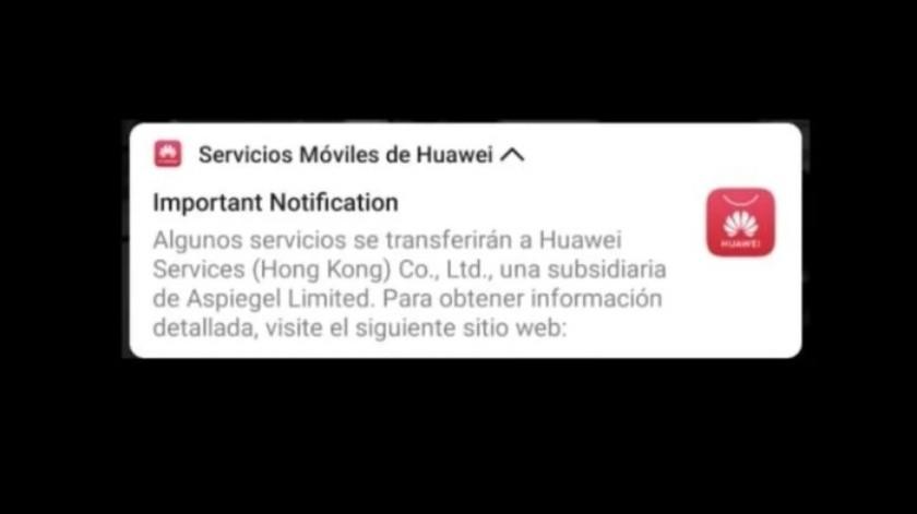 ¿Debes preocuparte si tienes un smartphone de Huawei y te llegó este aviso?(Cortesía)
