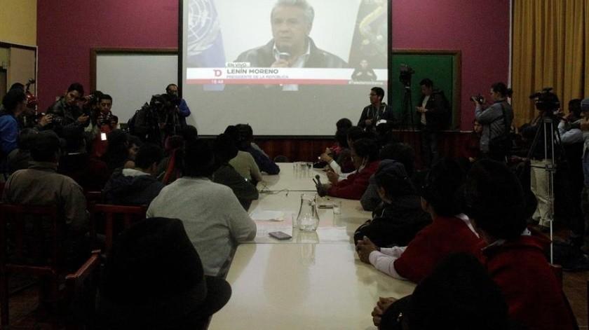 El Gobierno y los indígenas ecuatorianos llegaron este domingo a un acuerdo mediante el cual se derogará el decreto 883, que eliminó el subsidio a los combustibles y provocó la actual ola de protestas en Ecuador.(EFE)