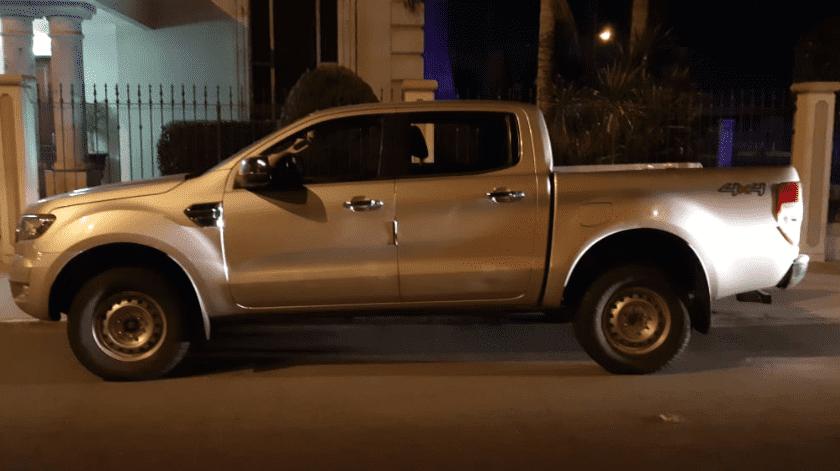 Camioneta robada en BC es encontrada en SLRC(Cortesía)