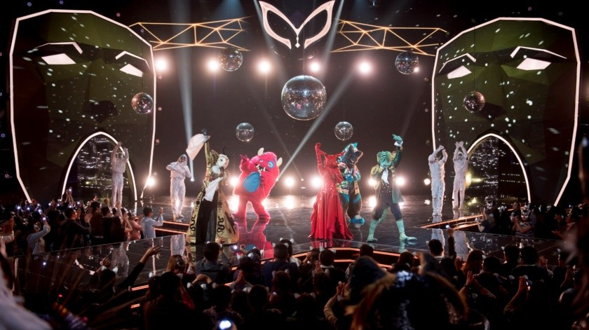 Los cinco finalistas de ¿Quién es la máscara? interpretaron Don't stop the party.(Cortesía)
