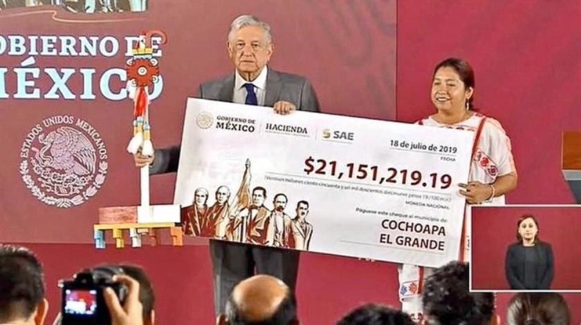Recursos prometidos por AMLO llegan a comunidades de Guerrero(Captura de video)