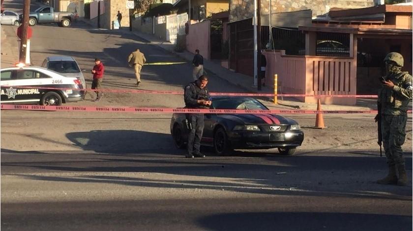 Una persona fue ejecutada esta mañana a disparos con arma de fuego a la altura de la Colonia Moderna cuando transitaba por su automóvil.(Cortesía)