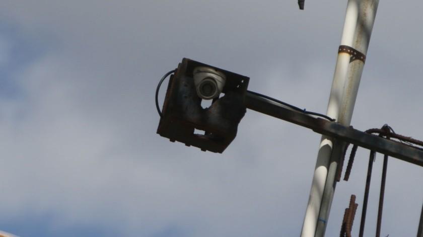 Las cámaras fueron instaladas el año pasado, por el tema del incremento de la inseguridad.