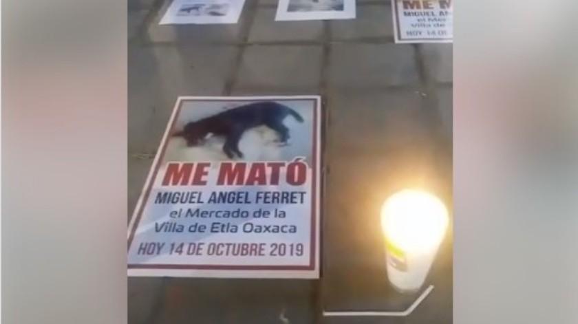 Activistas piden justicia por los lamentables hechos.(Captura de video.)