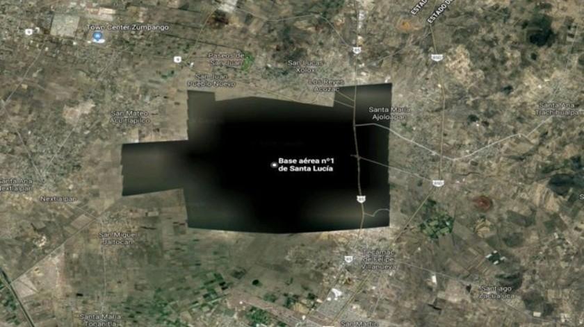 Las imágenes satelitales desde otra aplicación de Google, Google Maps, de la misma área, sí han estado disponibles todo este tiempo.
