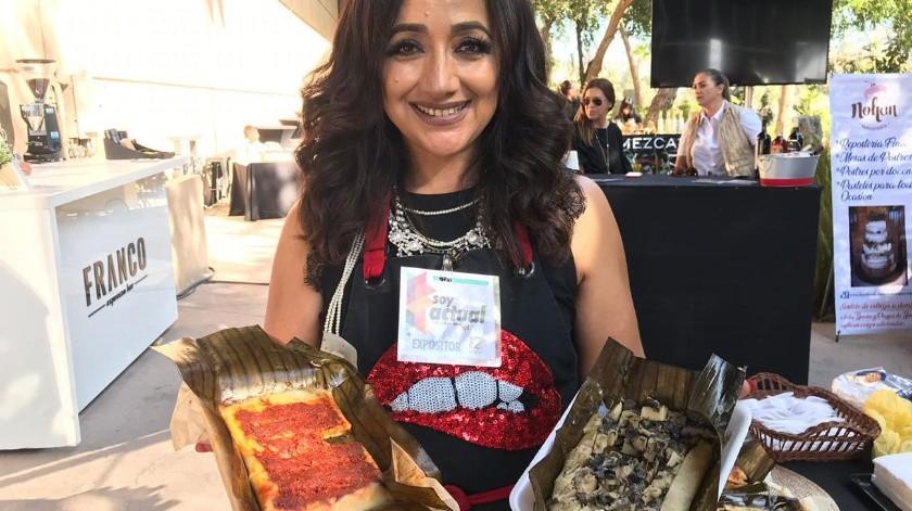 Anabel Olmeda, una emprendedora tijuanense.(Khennia Reyes)