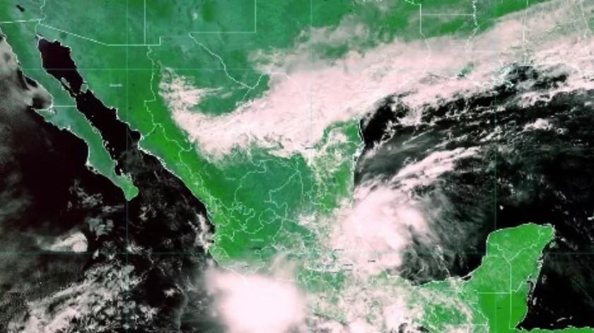 Por ciclón tropical 17-E suspenden clases en Oaxaca(Twitter @conagua_clima)