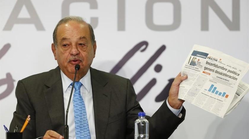 El multimillonario mexicano Carlos Slim fustigó este miércoles a sus competidores.(EFE)