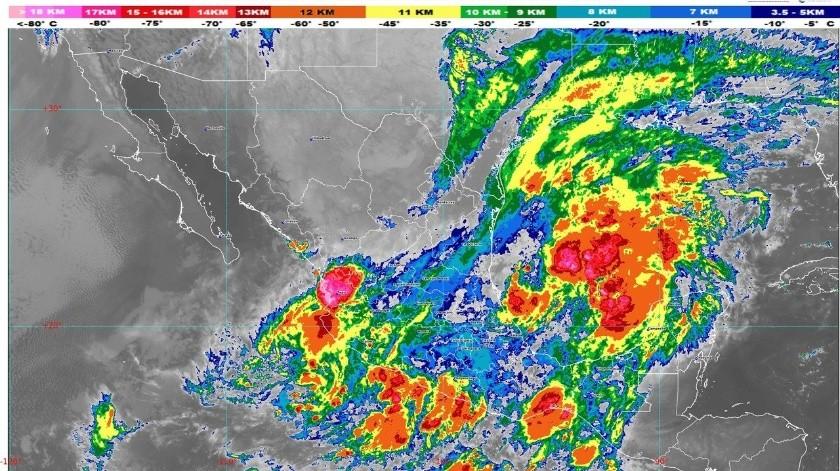Se prevén lluvias extraordinarias en Guerrero y Veracruz, aisladas en BC Sur Sonora, Chihuahua y Aguascalientes(Conagua)