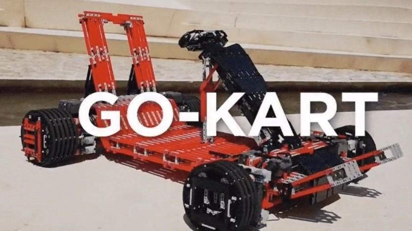 VIDEO: Construye go kart funcional usando piezas de Lego(Cortesía)