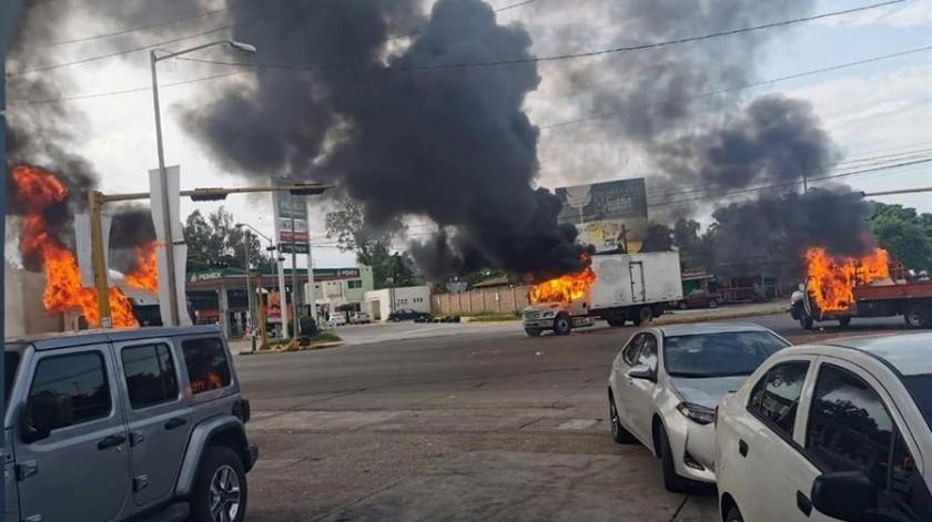 Recorren calles de Culiacán por la noche tras violenta tarde(EFE)