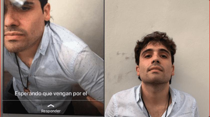 """Una nueva foto de Ovidio Guzmán López, hijo de Joaquín Guzmán Loera, """"El Chapo"""", detenido, se ha filtrado en las redes sociales."""